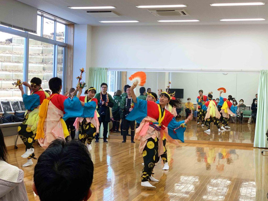 Nanatsu Odori Festival practice in Iwate Town.