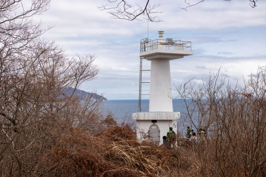 The  small lighthouse at the end of the Ohakozaki Trail.