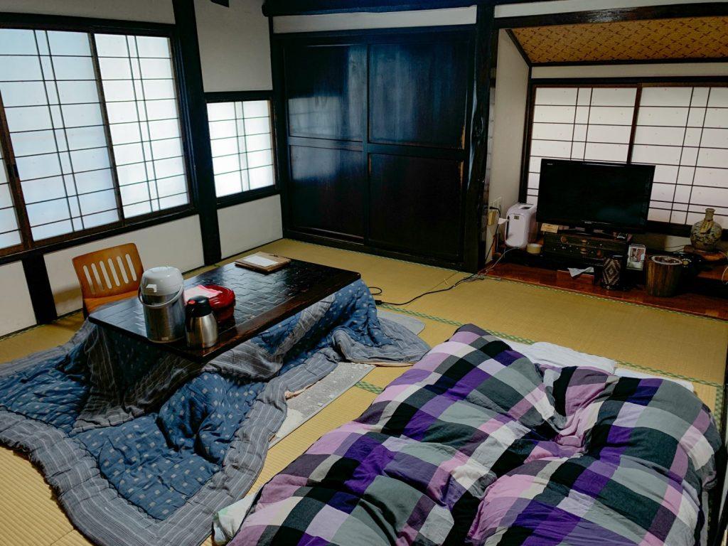 Tatami Style room at Bunke Ryokan in Tenei Mura.