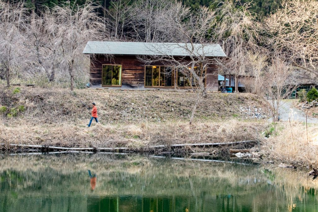 Hataya Nature Farm side view of lake in Tenei Mura.