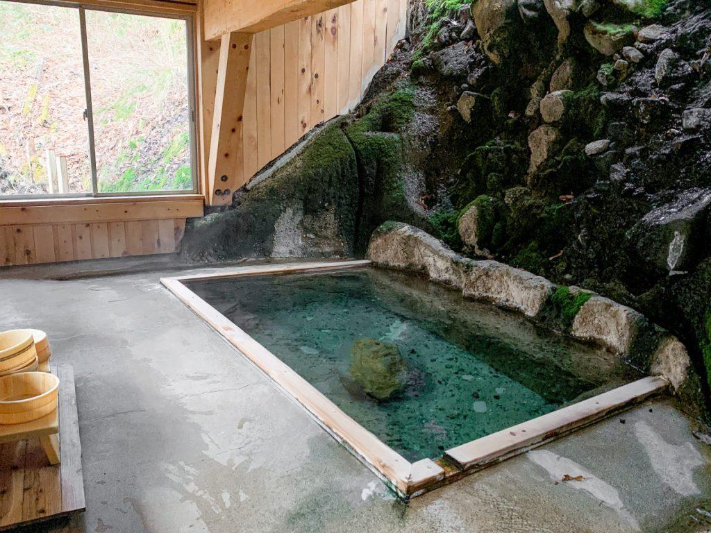 Hot spring in Tenei Mura Kaswaya Ryokan
