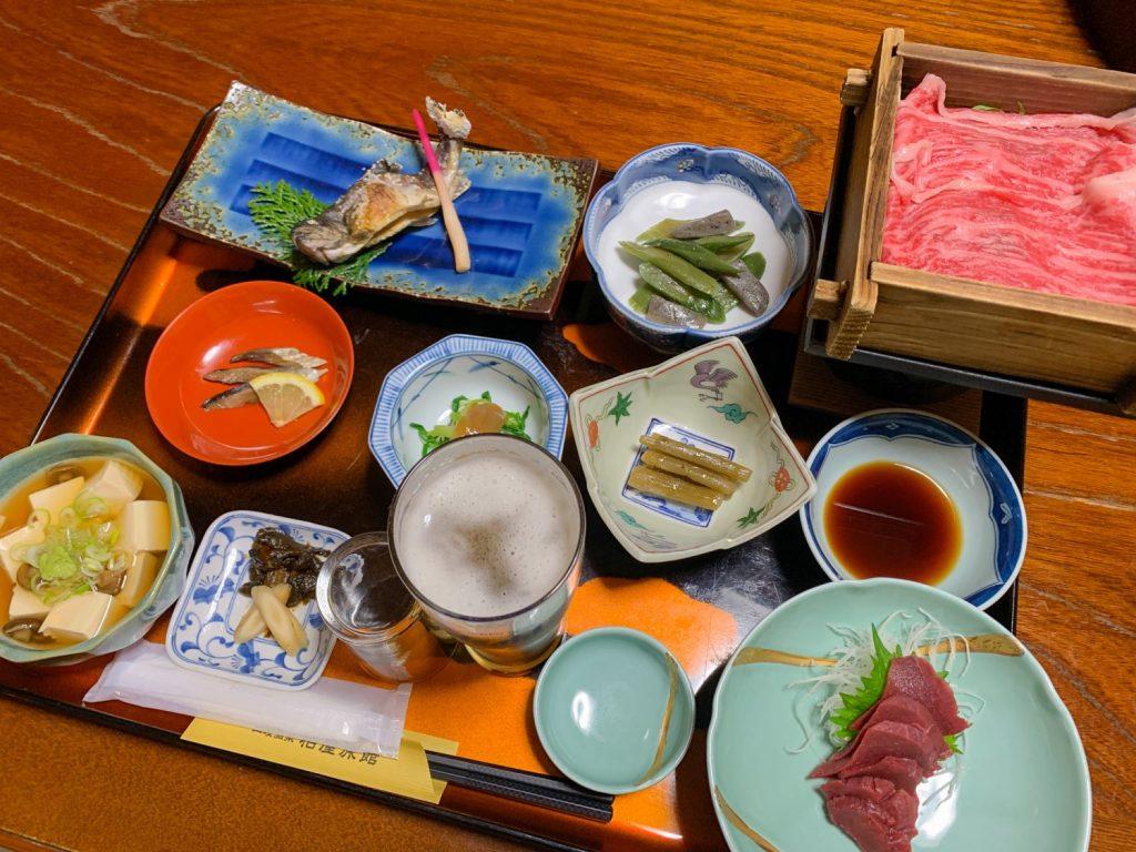 Dinner at Kashiwaya Ryokan in Tenei Mura.