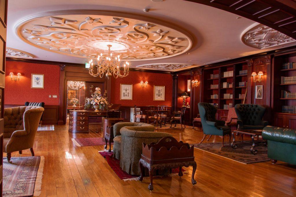 Inside of the library of British Hills in Tenei Mura.