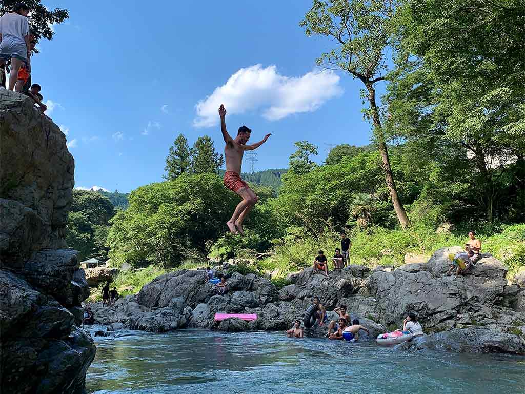 Swimming in Akigawa Valley