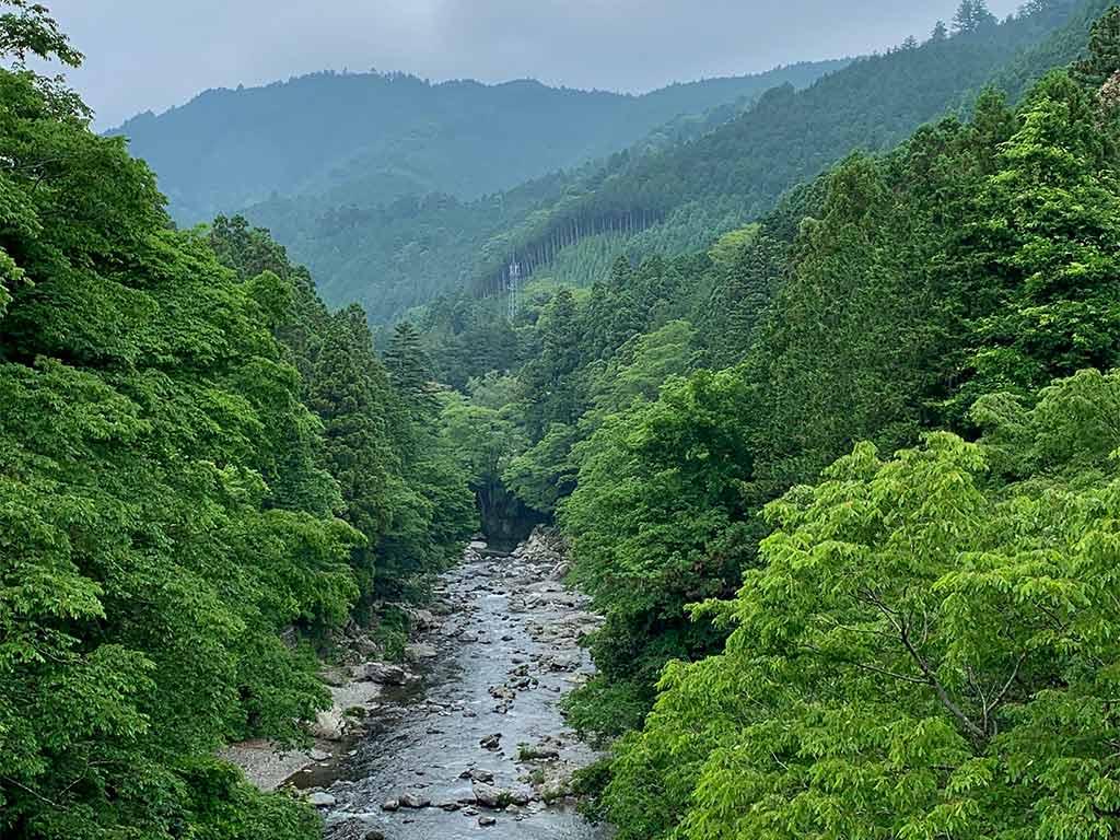 Beautiful Scenic picture of Akigawa river