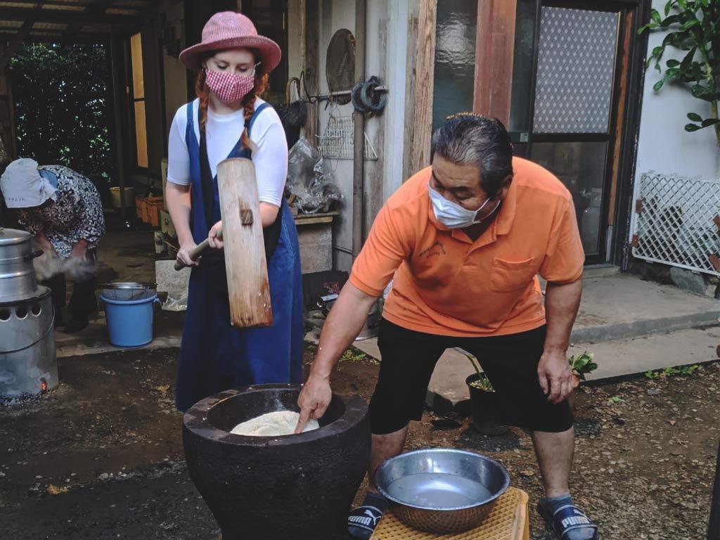 Travel to Miyazaki, Mochi Making