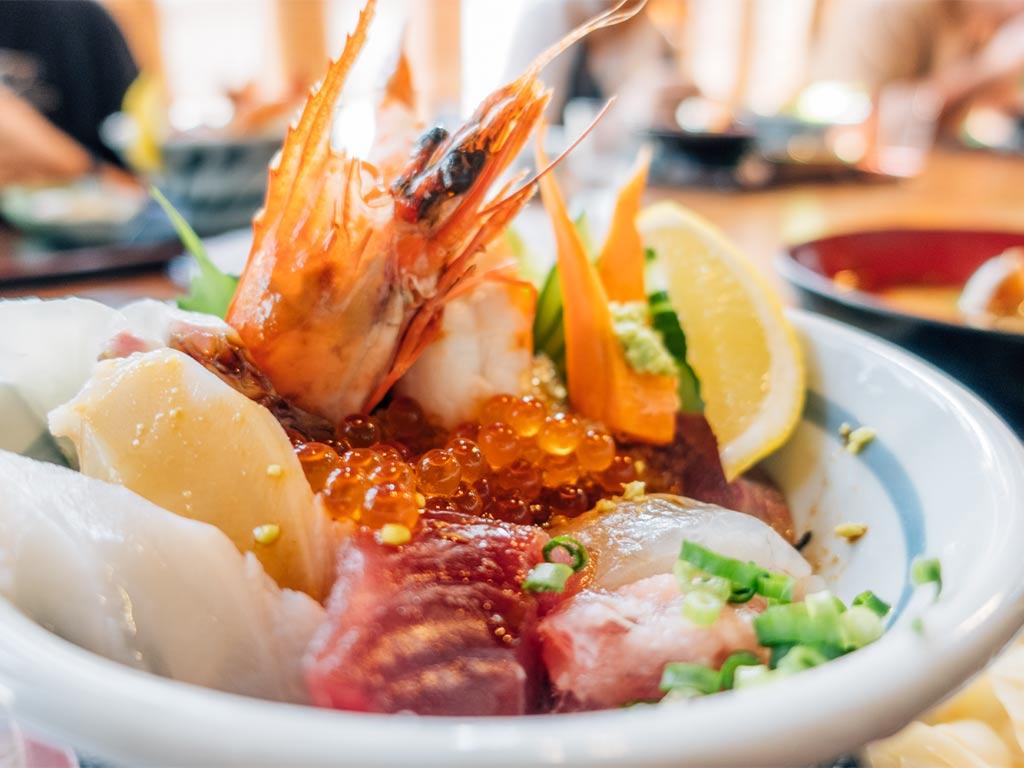 Travel to Miyazaki, Seafood Bowl